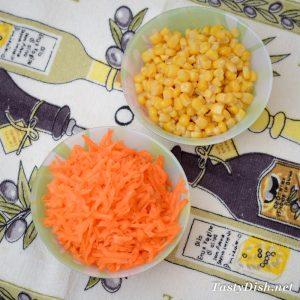 салат с морковью кукурузой и сыром