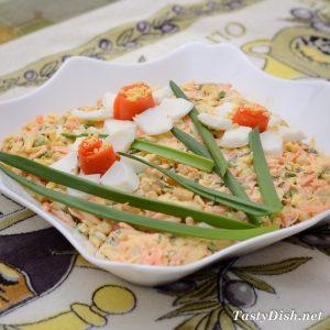 салат из моркови с сыром нарциссы рецепт с фото пошагово