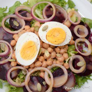 салат с нутом и свеклой рецепт с фото пошагово