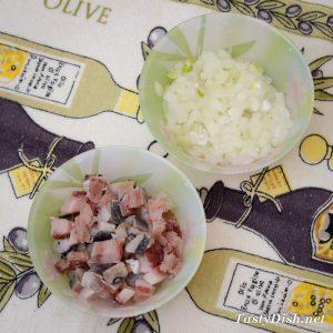 салат с сельдью рецепт с фото пошагово