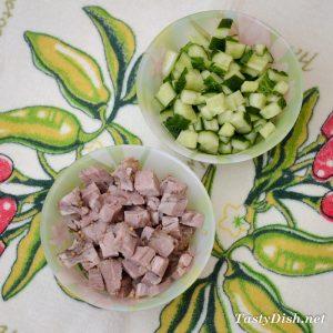 простой мясной салат рецепт с фото пошагово