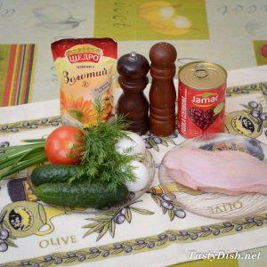 вкусный салат с красной фасолью рецепт с фото пошагово