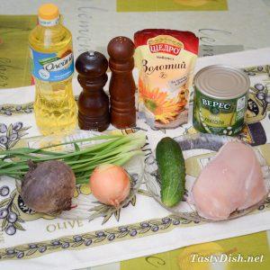 куриный салат с фасолью рецепт с фото пошагово