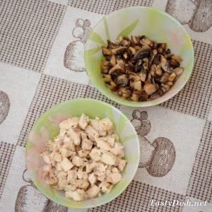 вкусный и простой салат куриный с грибами рецепт с фото пошагово