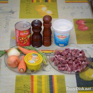 вкусный салат из куриных сердечек рецепт с фото пошагово