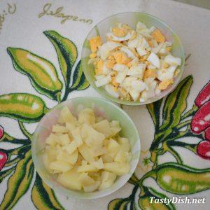 окрошка на кефире с картошкой рецепт с фото пошагово