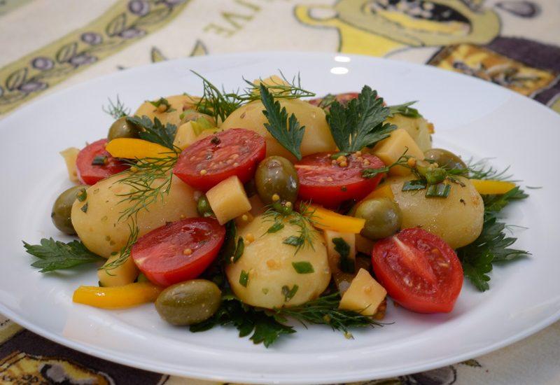 вкусный салат из картофеля рецепт с фото пошагово