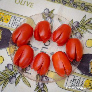 фаршированные помидоры с сыром рецепт с фото пошагово