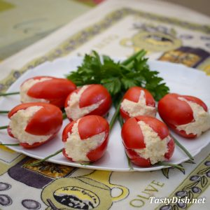 вкусная закуска из помидоров красные тюльпаны рецепт с фото пошагово