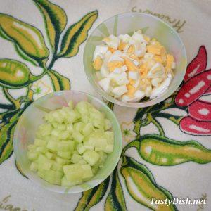салат из цветной капусты и яйцом рецепт с фото пошагово