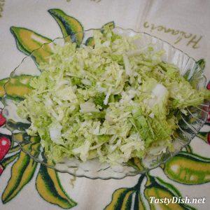 овощной салат с пекинской капустой рецепт с фото пошагово