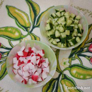 салат из огурцов и редиса рецепт с фото пошагово