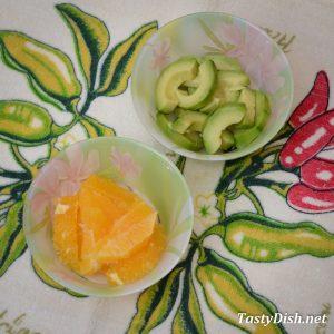 салат с авокадо и апельсином рецепт с фото пошагово
