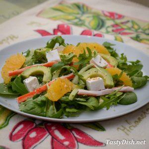 салат с авокадо и сыром рецепт с фото пошагово