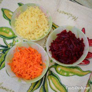 овощи для салата со скумбрией рецепт с фото пошагово