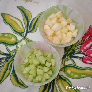 простой салат из сельди с яблоком рецепт с фото пошагово